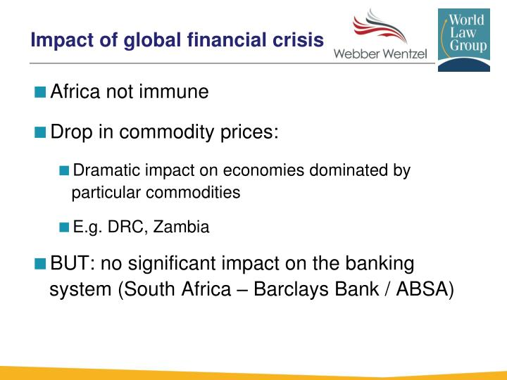 impact of global financial crisis