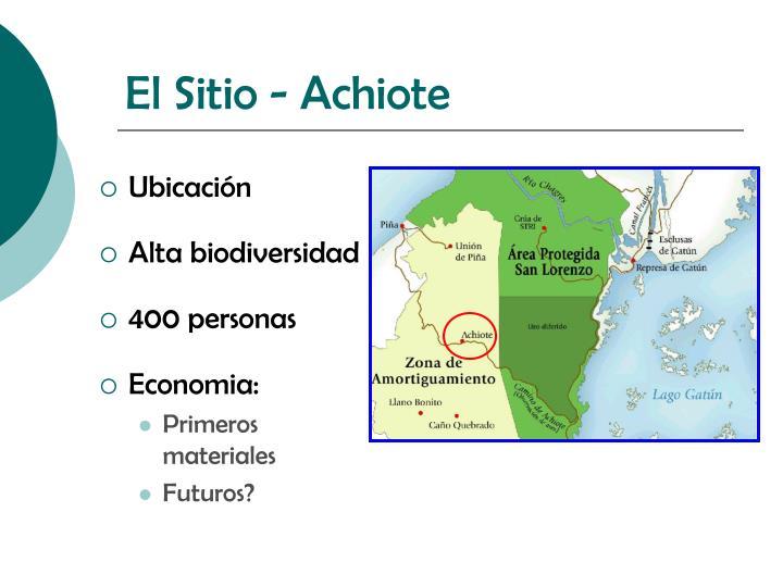 El Sitio - Achiote
