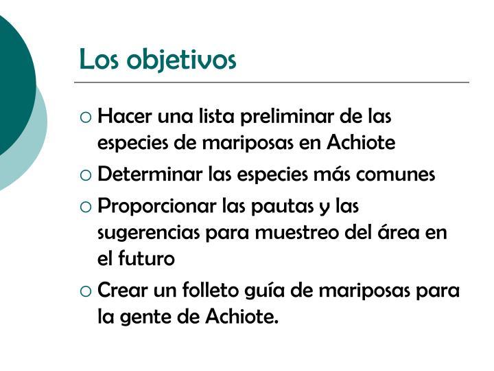 Los objetivos