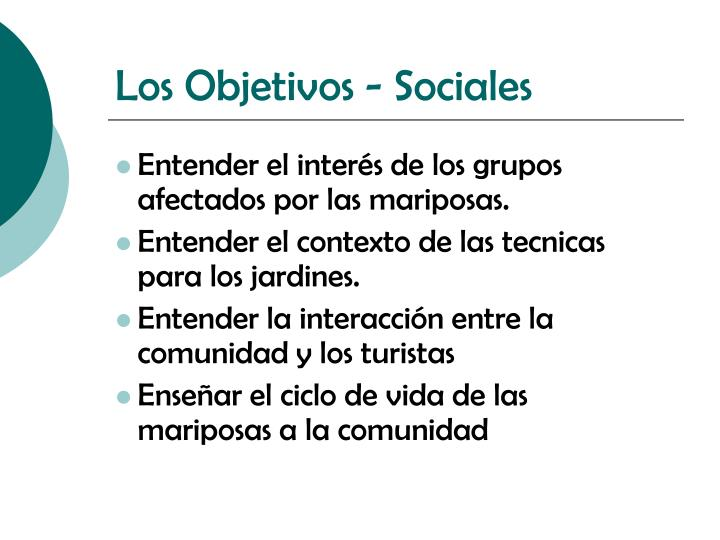 Los Objetivos - Sociales