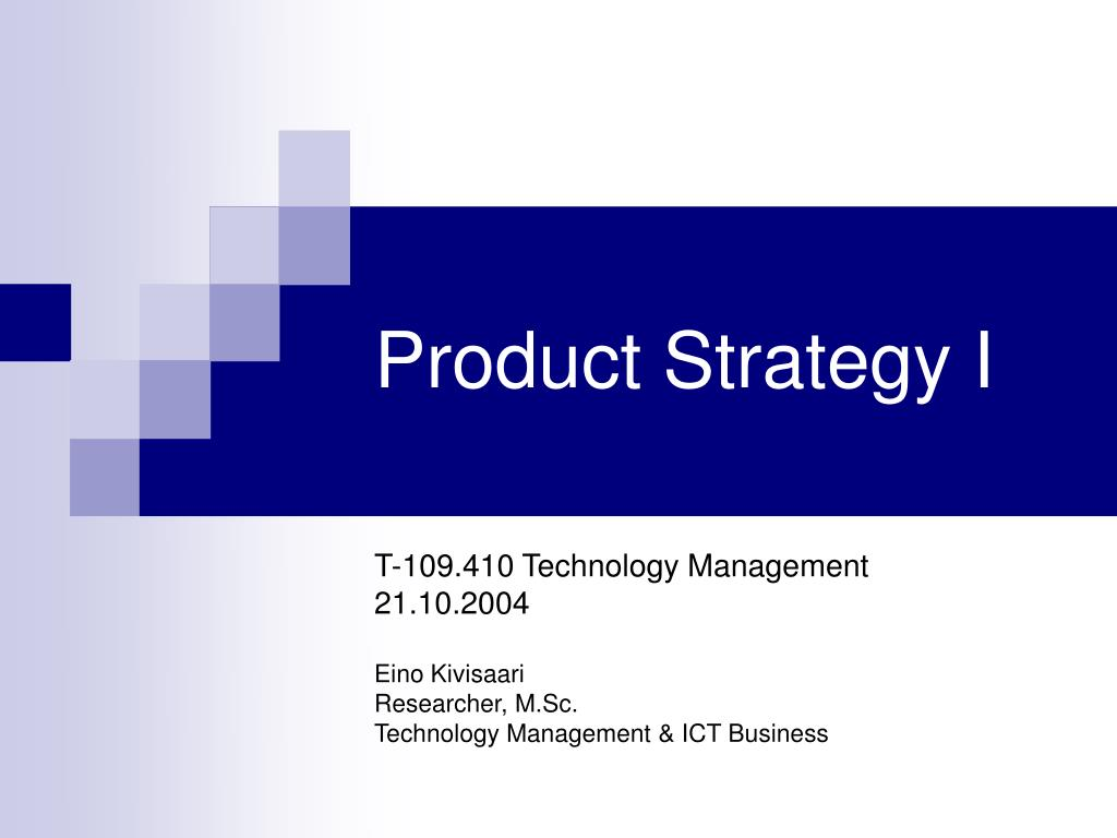 product strategy i