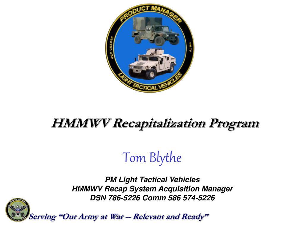 HMMWV Recapitalization Program