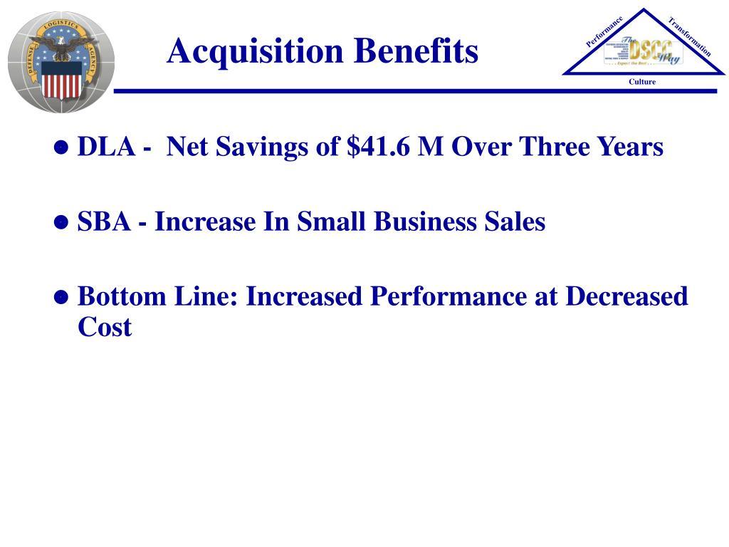 Acquisition Benefits