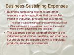 business sustaining expenses