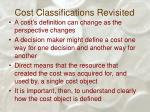 cost classifications revisited35