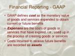 financial reporting gaap