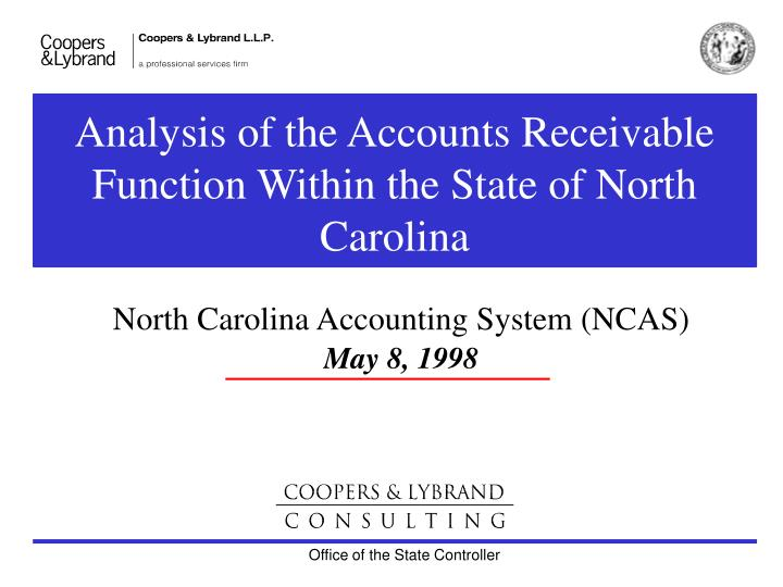 analysis of the accounts receivable function within the state of north carolina n.