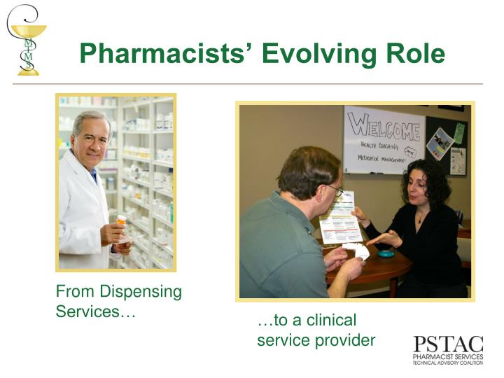 Pharmacists evolving role