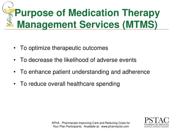 Purpose of medication therapy management services mtms