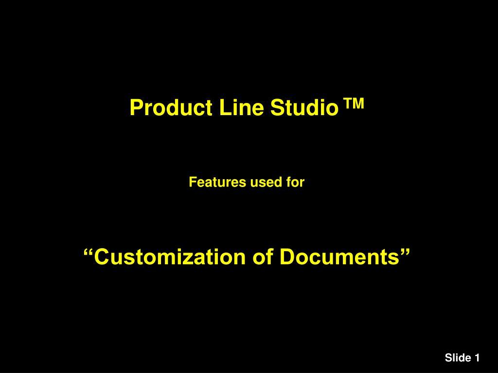 Product Line Studio