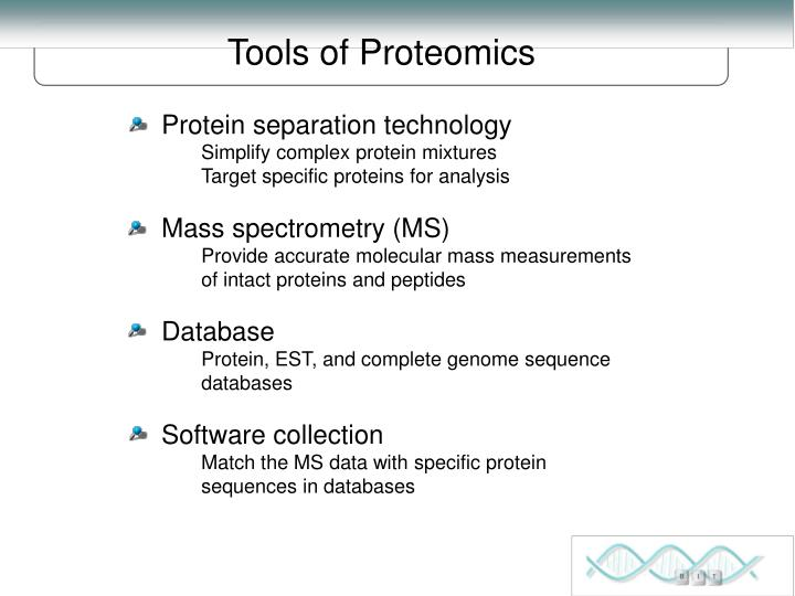 Tools of Proteomics