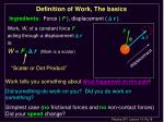 definition of work the basics