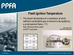 flash ignition temperature