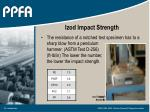 izod impact strength