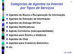 categorias de agentes na internet por tipos de servi os