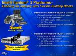 intel itanium 2 platforms enabling the industry with flexible building blocks