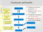 conclusions and benefits
