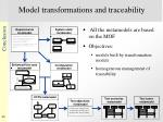 model transformations and traceability