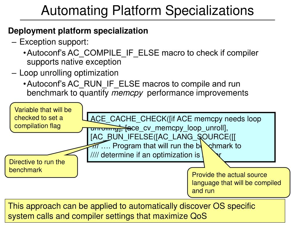 Automating Platform Specializations