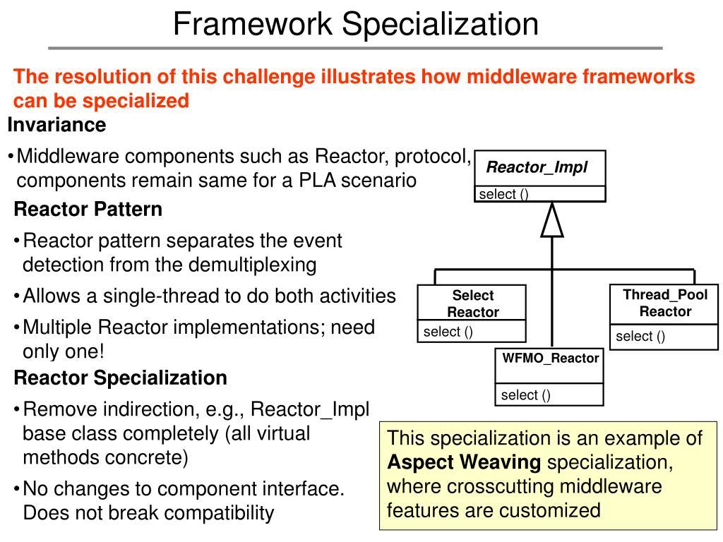 Framework Specialization