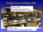 product line product mix