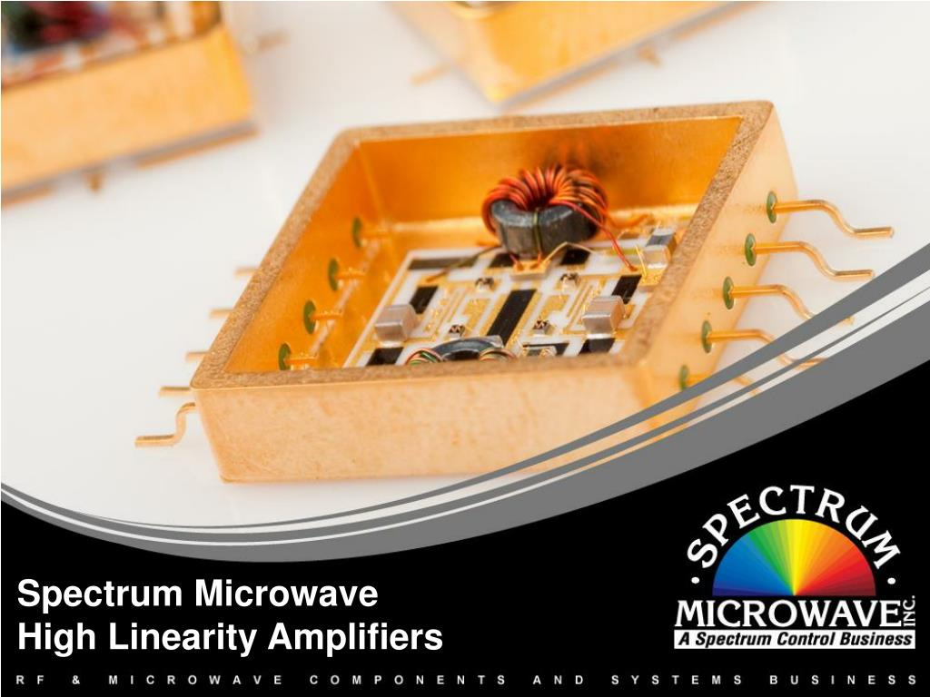 spectrum microwave high linearity amplifiers