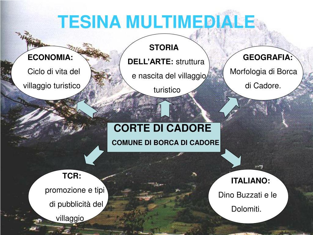 Borca Di Cadore Comune ppt - tesina multimediale powerpoint presentation, free