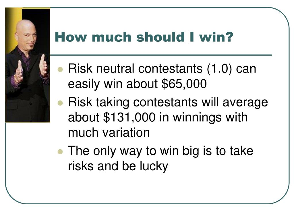 How much should I win?