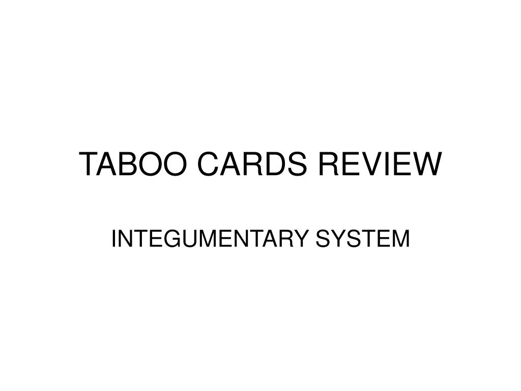 taboo cards review l.