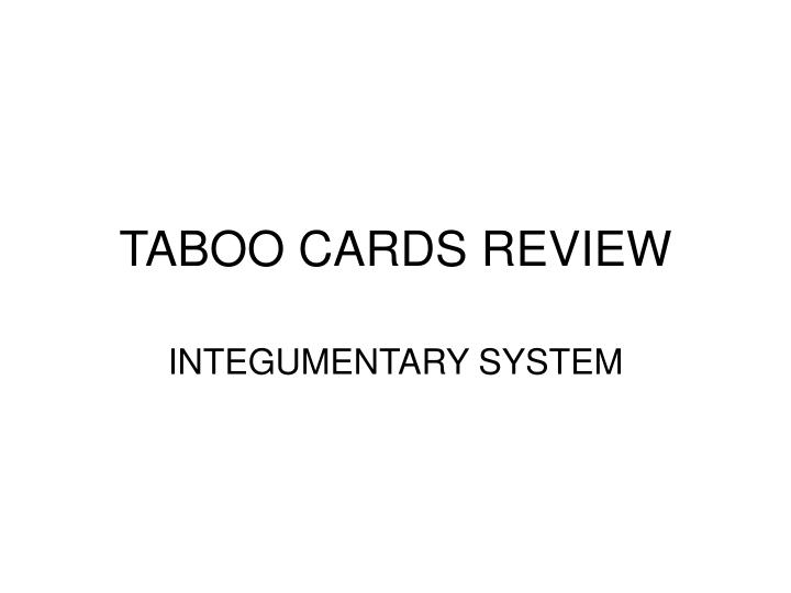 taboo cards review n.