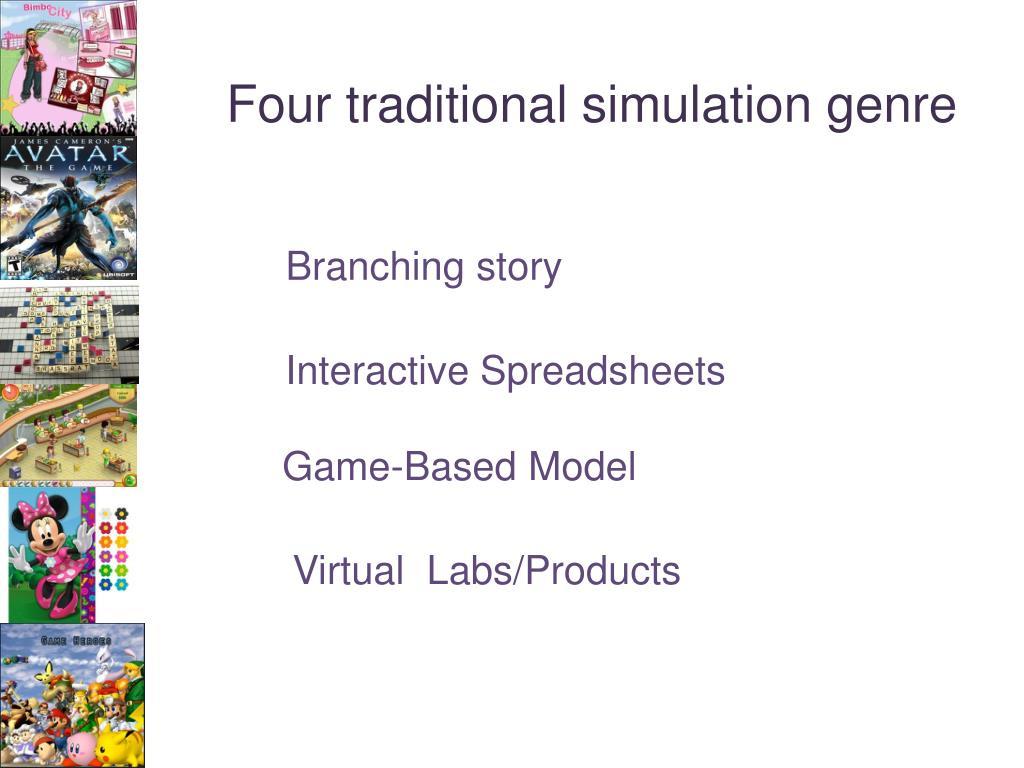 Four traditional simulation genre
