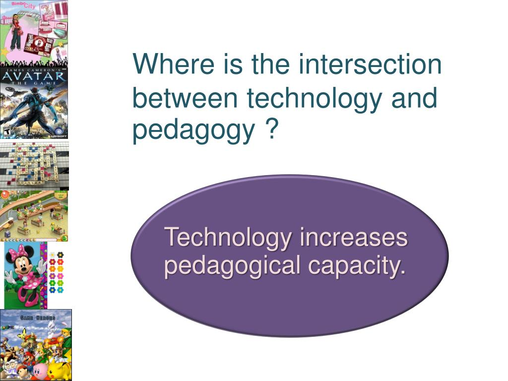 Where is the intersection between technology and pedagogy ?