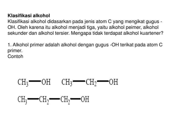 Klasifikasi alkohol