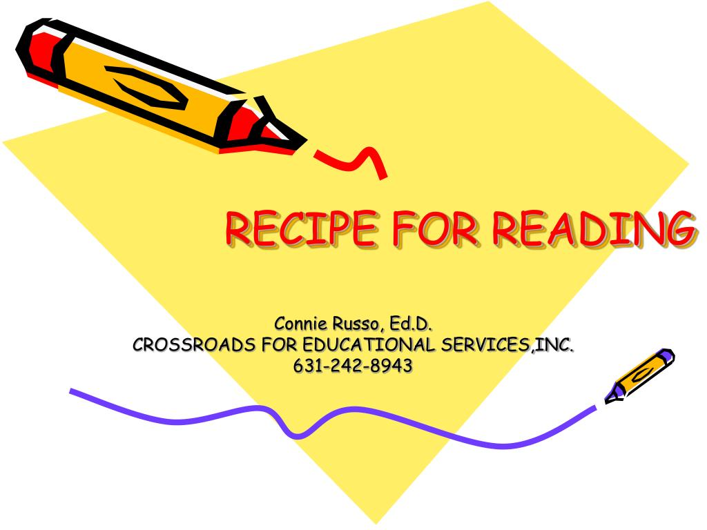 recipe for reading l.