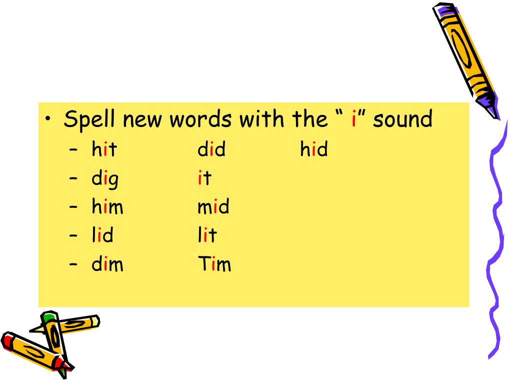 """Spell new words with the """""""