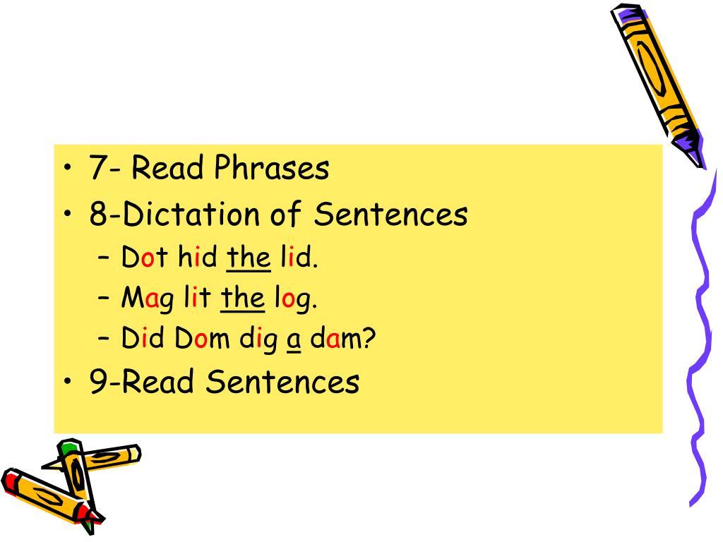 7- Read Phrases