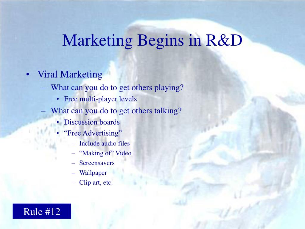 Marketing Begins in R&D