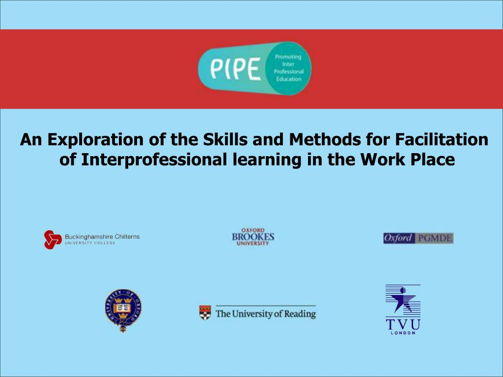 An Exploration of the Skills and Methods for Facilitation