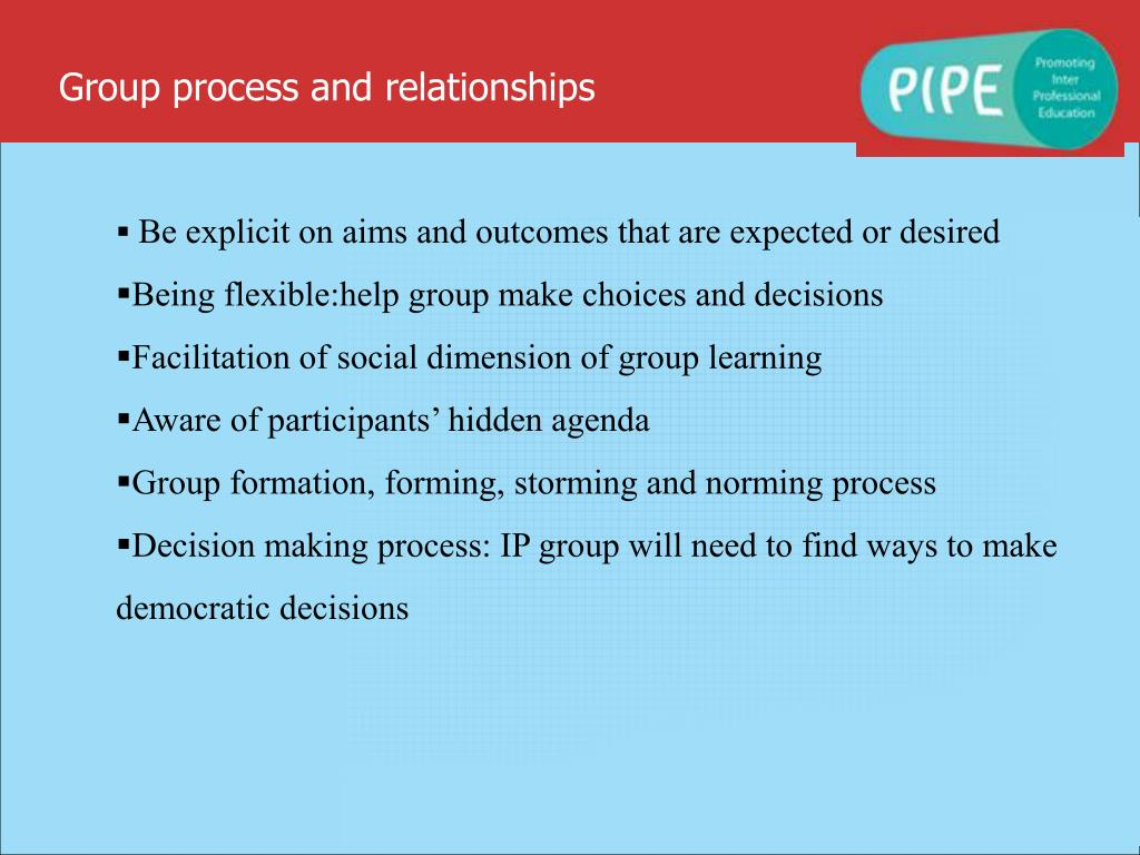 Group process and relationships