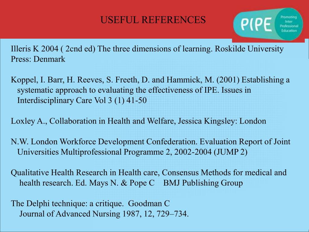 USEFUL REFERENCES