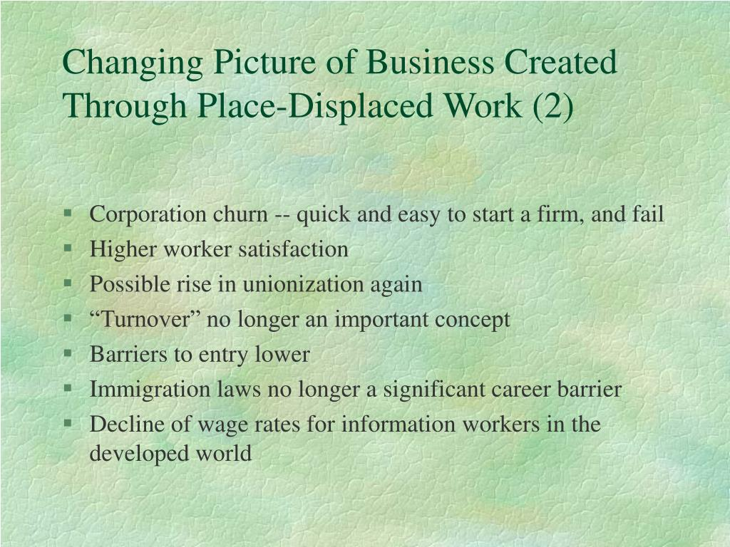 Changing Picture of Business Created Through Place-Displaced Work (2)