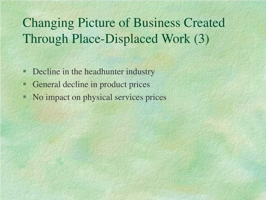 Changing Picture of Business Created Through Place-Displaced Work (3)