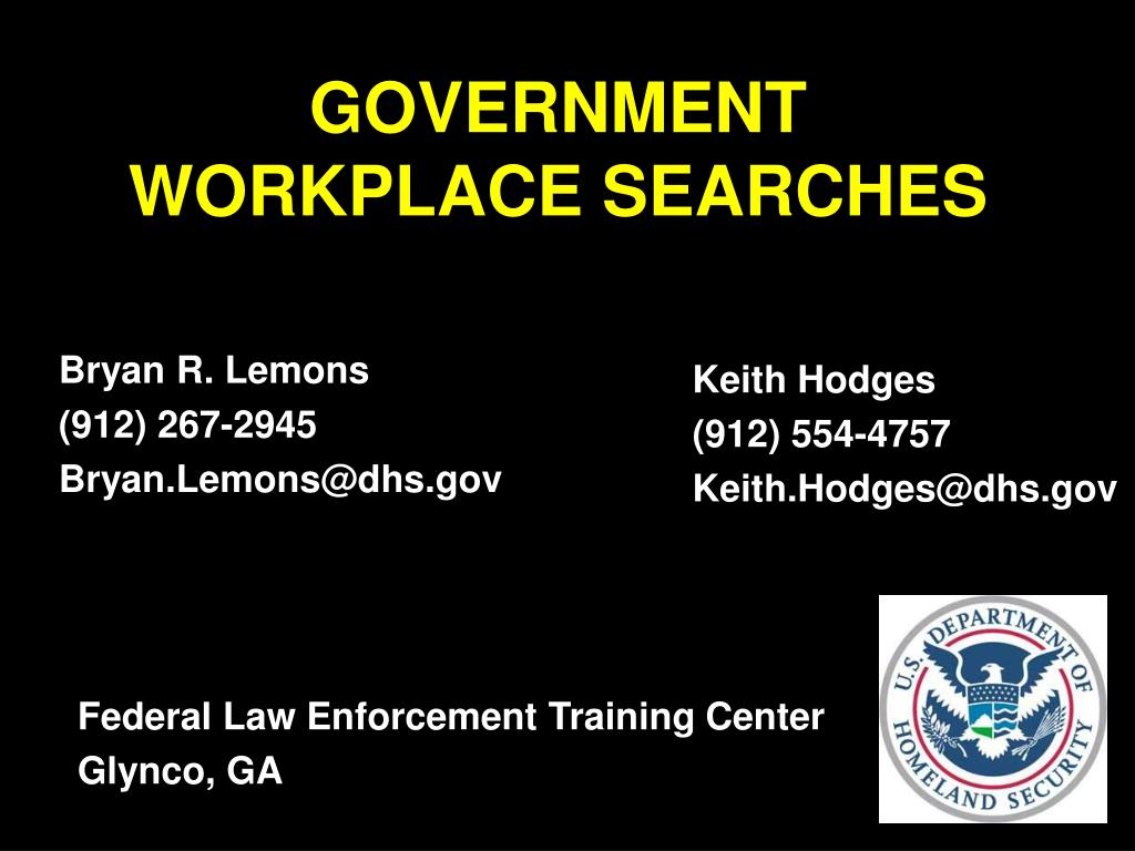 government workplace searches l.
