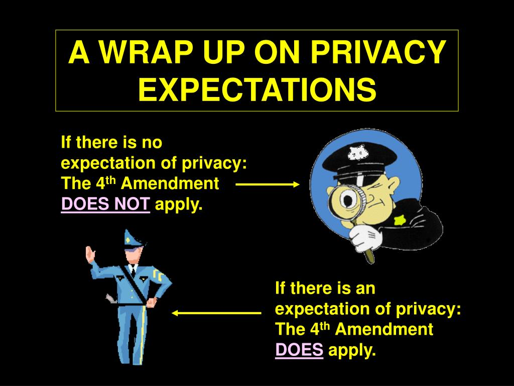 A WRAP UP ON PRIVACY EXPECTATIONS