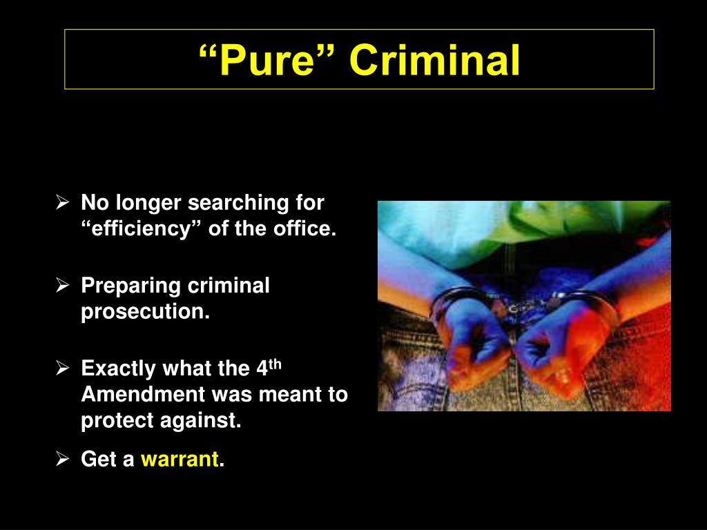 """Pure"" Criminal"