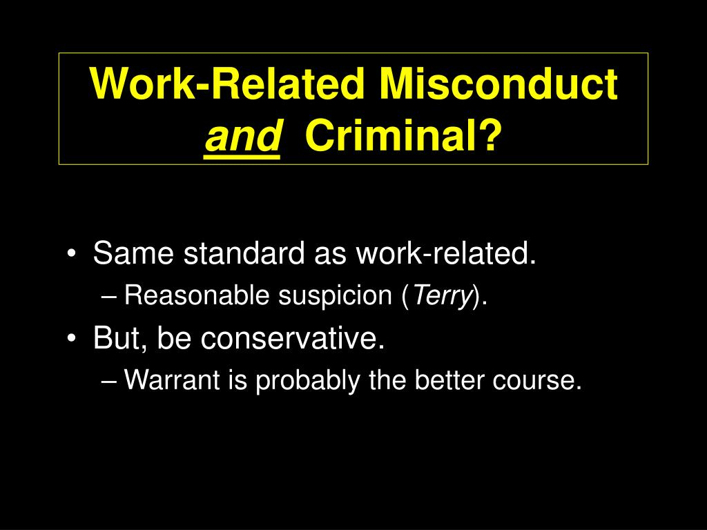 Work-Related Misconduct