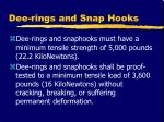 dee rings and snap hooks