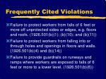 frequently cited violations