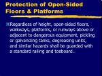 protection of open sided floors platforms12