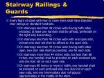 stairway railings guards
